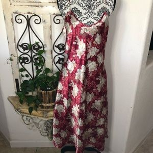 Adonna floral print long slip/dress/nighty